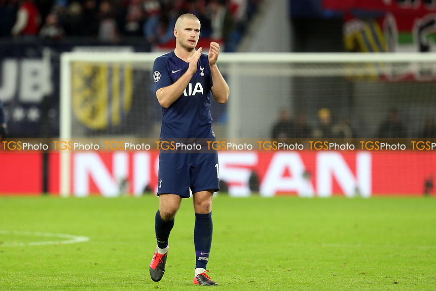 A tearful looking Eric Dier of Tottenham Hotspur after RB Leipzig vs Tottenham Hotspur, UEFA Champions League Football at the Red Bull Arena on 10th March 2020