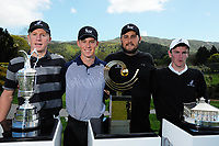 From left, James Anstiss, Dan Hillier, Ryan Chisnall and Kerry Mountcastle. 2017 Asia-Pacific Amateur Championship Media and Partner Golf Day at Royal Wellington Golf Club in Wellington, New Zealand on Monday, 16 October 2017. Photo: Dave Lintott / lintottphoto.co.nz