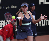 BOGOTÁ -COLOMBIA, 10-04-2018:Evgeniya Rodina de Rusia   ,durante el Claro Open Colsánitas WTA  international event que se juega en El Club Los Lagartos al norte de la Capital ./ Evgeniya Rodina of Russia , during the Claro Open Colsánitas WTA international event that is played at El Club Los Lagartos north of the Capital. Photo: VizzorImage/ Felipe Caicedo / Staff
