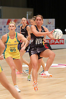 28.01.2017 Silver Ferns Grace Rasmussen in action during the Silver Ferns v Australian Diamonds netball test match played at the International Convention Centre studium in Durban, South Africa.<br />  Mandatory Photo Credit ©Reg Caldecott/Michael Bradley Photography.