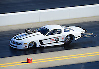 Apr. 13, 2012; Concord, NC, USA: NHRA pro mod driver Mike Janis during qualifying for the Four Wide Nationals at zMax Dragway. Mandatory Credit: Mark J. Rebilas-