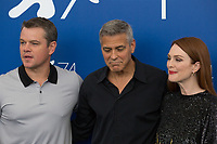 George Clooney, Julianne Moore, Matt Damon at the &quot;Suburbicon&quot; photocall, 74th Venice Film Festival in Italy on 2 September 2017.<br /> <br /> Photo: Kristina Afanasyeva/Featureflash/SilverHub<br /> 0208 004 5359<br /> sales@silverhubmedia.com