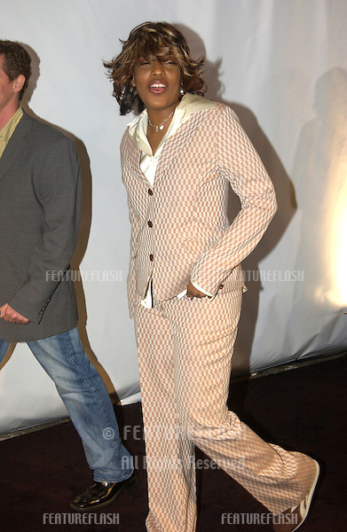 Singer MACY GRAY at fashion show event on Rodeo Drive, Beverly Hills, where designer Giorgio Armani was honored with the first Rodeo Drive Walk of Style Award..Sept 9, 2003