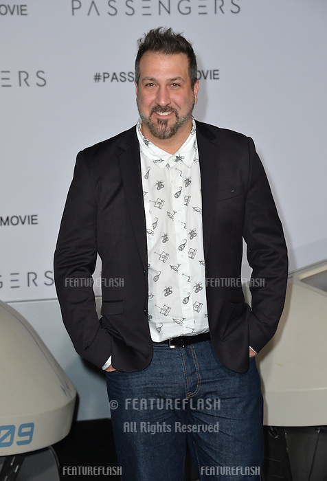 Musician Joey Fatone at the world premiere of &quot;Passengers&quot; at the Regency Village Theatre, Westwood. <br /> December 14, 2016<br /> Picture: Paul Smith/Featureflash/SilverHub 0208 004 5359/ 07711 972644 Editors@silverhubmedia.com