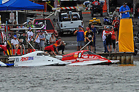 Rob Rinker, (#10) and Bud Nollman, (#6) on the start dock.  (SST-45 class)