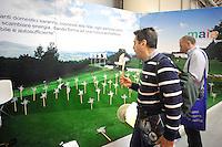 Roma, 8 Settembre 2010.Fiera di Roma.Zeroemission 2010, fiera campionaria energia alternativa..Eolico,.Eolica expo 2010, PV Rome mediterranean 2010, ccs expo co2 expo 2010..Rome, September 8, 2010.Fiera di Roma.Zeroemission 2010, alternative energy trade fair..Wind,