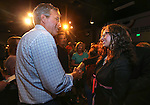 Republican presidential candidate Jeb Bush talks to people in the crowd after a town hall meeting in Carson City, Nev., on Friday, July 17, 2015. <br /> Photo by Cathleen Allison