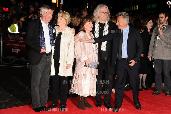 "Dame Maggie Smith, Pauline Collins, Tom Courtney and Billy Connolly and Dustin Hoffman at the premiere for ""Quartet"" being shown as part of the London Film Festival 2012, Odeon Leicester Square, London. 15/10/2012 Picture by: Steve Vas / Featureflash"