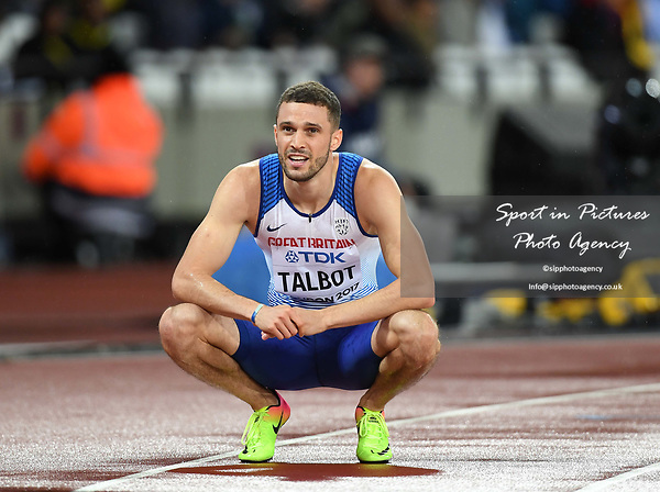 Daniel TALBOT (GBR) in the mens 200m semi-final. IAAF world athletics championships. London Olympic stadium. Queen Elizabeth Olympic park. Stratford. London. UK. 09/08/2017. ~ MANDATORY CREDIT Garry Bowden/SIPPA - NO UNAUTHORISED USE - +44 7837 394578