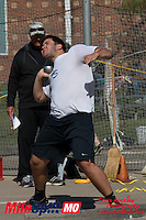 Parkway South senior Austin Lawless took second in the shot put with a toss of 56-10.5 at the 2016 MSHSAA Class 5 District 2 Track and Field Meet at Ladue High School, St. Louis, Saturday, May 14.