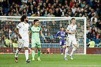 30th October 2019; Estadio Santiago Bernabeu, Madrid, Spain; La Liga Football, Real Madrid versus Leganes; Toni Kroos (Real Madrid)  celebrates his goal which made it 2-0 in the 8th minute - Editorial Use