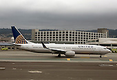 A United Airlines Boeing 757 aircraft rests on the tarmac at San Francisco International airport in San Francisco, California, awaiting its turn to take-off on Thursday, February 5, 2015.<br /> Credit: Ron Sachs / CNP