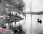 Boating on Bellevue Lake in Lakewood Park, September 14, 1891.