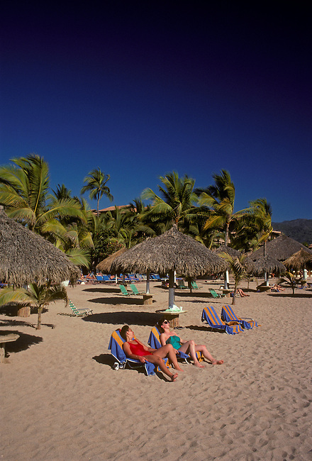 Beach along Bay of Banderas, Puerto Vallarta, Jalisco State, Mexico, North America