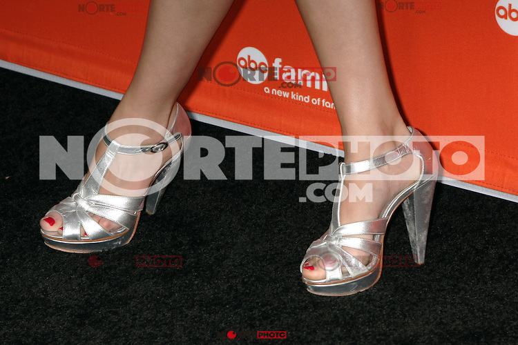 Alexandra Chando's shoes at the ABC Family West Coast Upfronts party at The Sayers Club on May 1, 2012 in Hollywood, California. © mpi26/MediaPunch Inc.