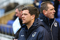 Bristol Rovers manager Darrell Clarke during the Sky Bet League 1 match between Oldham Athletic and Bristol Rovers at Boundary Park, Oldham, England on 30 December 2017. Photo by Juel Miah / PRiME Media Images.