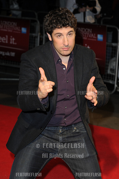 "Jason Biggs at the premiere for ""Grassroots"" being shown as part of the London Film Festival 2012, London. 12/10/2012 Picture by: Steve Vas / Featureflash"