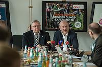 Praesentation der CDU-Kampagne fuer die Abgeordnetenhauswahl am 18. September 2016 in Berlin.<br /> Der CDU-Landesvorsitzende Frank Henkel stellte am Mittwoch den 6. April 2016 zusammen mit dem<br /> Wahlkampfleiter Kai Wegner und dem<br /> Kampagnenmanager Thomas Heilmann die Kampagne der Berliner CDU zur Abgeordnetenhauswahl vor. Konkrete Plakate mit Fotomotiven konnten nur eingeschraenkt gezeigt werden, da die CDU die Nutzungsrechte nicht erworben hat. So wurden den Journalisten nur Plakatideen und das Logo der Kampagne praesentiert.<br /> Im Bild vlnr: Frank Henkel, Kai Wegner.<br /> 6.4.2016, Berlin<br /> Copyright: Christian-Ditsch.de<br /> [Inhaltsveraendernde Manipulation des Fotos nur nach ausdruecklicher Genehmigung des Fotografen. Vereinbarungen ueber Abtretung von Persoenlichkeitsrechten/Model Release der abgebildeten Person/Personen liegen nicht vor. NO MODEL RELEASE! Nur fuer Redaktionelle Zwecke. Don't publish without copyright Christian-Ditsch.de, Veroeffentlichung nur mit Fotografennennung, sowie gegen Honorar, MwSt. und Beleg. Konto: I N G - D i B a, IBAN DE58500105175400192269, BIC INGDDEFFXXX, Kontakt: post@christian-ditsch.de<br /> Bei der Bearbeitung der Dateiinformationen darf die Urheberkennzeichnung in den EXIF- und  IPTC-Daten nicht entfernt werden, diese sind in digitalen Medien nach §95c UrhG rechtlich geschuetzt. Der Urhebervermerk wird gemaess §13 UrhG verlangt.]