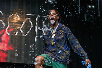 Travis Scott  (Jacques Webster) sprays water at the crowd during The New Look Wireless Music Festival at Finsbury Park, London, England on Friday 03 July 2015. Photo by Andy Rowland.