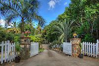 Entrance to Gibney Cottages and Gardens<br /> Virgin Islands National Park<br /> St. John<br /> U.S. Virgin Islands