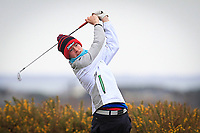 Robert Galligan (Elm Park) on the 5th tee during the Final Round of the Connacht U18 Boys Open 2018 on Carne Golf Links at Belmullet Golf Club on Sunday 6th April 2018.<br /> Picture:  Thos Caffrey / www.golffile.ie<br /> <br /> All photo usage must carry mandatory copyright credit (&copy; Golffile | Thos Caffrey)