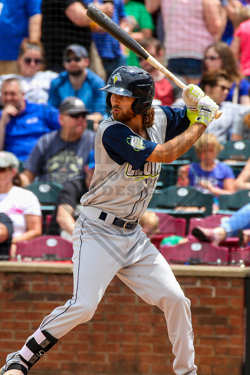 Columbia Fireflies outfielder Gene Cone (9) during a South Atlantic League game against the Lexington Legends on May 28, 2017 at Whitaker Bank Ballpark in Lexington, Kentucky.  Columbia defeated Lexington 3-0. (Brad Krause/Krause Sports Photography)