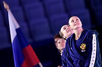 Team Russia  <br /> Budapest 12/01/2020 Duna Arena <br /> SLOVAKIA (white caps) Vs. RUSSIA (blue caps)<br /> XXXIV LEN European Water Polo Championships 2020<br /> Photo  © Andrea Staccioli / Deepbluemedia / Insidefoto