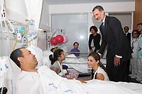 2017 08 19 King of Spain visit victims hospital POOL