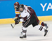 Kyle Schmidt (Duluth - 7), Wayne Simpson (Union - 21) - The University of Minnesota-Duluth Bulldogs defeated the Union College Dutchmen 2-0 in their NCAA East Regional Semi-Final on Friday, March 25, 2011, at Webster Bank Arena at Harbor Yard in Bridgeport, Connecticut.