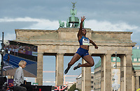 "US long jumper Tianna Bartoletta in action in front of the Brandenburg Gate during the German Athletics Association (DLV) international competition ""Berlin fliegt"" in Berlin, Germany, 2 September 2017. Photo: Annegret Hilse/dpa /MediaPunch ***FOR USA ONLY***"