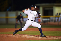 Lakeland Flying Tigers relief pitcher Adenson Verastegui (60) delivers a pitch during a game against the Jupiter Hammerheads on March 14, 2016 at Henley Field in Lakeland, Florida.  Lakeland defeated Jupiter 5-0.  (Mike Janes/Four Seam Images)