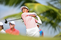 SINGAPORE - FEBRUARY 01: Celine Boutier of France on the 2nd tee during the second round of the HSBC Women's World Championship 2019 at Sentosa Golf Club - Tanjong Course, Singapore on March 01, 2019.<br /> .<br /> .<br /> .<br /> (Photo by: Naratip Golf Srisupab/SEALs Sports Images)<br /> .<br /> Any image use must include a mandatory credit line adjacent to the content which should read: Naratip Golf Srisupab/SEALs Sports Images