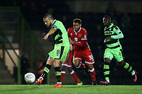 Liam Noble of Forest Green Rovers passes the ball upfield during Forest Green Rovers vs MK Dons, Caraboa Cup Football at The New Lawn on 8th August 2017