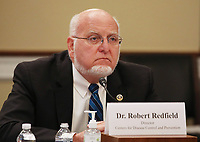 """Dr. Robert Redfield, Director of the Centers for Disease Control and Prevention, testifies before the United States House Labor, Health and Human Services, Education and Related Agencies Subcommittee hearing on """"COVID-19 Response on Capitol Hill in Washington, DC on Thursday, June 4, 2020.         <br /> Credit: Tasos Katopodis / Pool via CNP/AdMedia"""