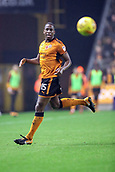 3rd November 2017, Molineux, Wolverhampton, England; EFL Championship football, Wolverhampton Wanderers versus Fulham; Willy Boly of Wolverhampton Wanderers watches the ball
