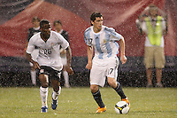 Argentina midfielder Jose Sosa (17). The men's national teams of the United States and Argentina played to a 0-0 tie during an international friendly at Giants Stadium in East Rutherford, NJ, on June 8, 2008.
