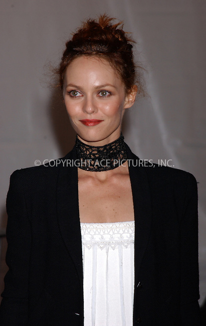 WWW.ACEPIXS.COM . . . . . ....NEW YORK, MAY 2, 2005......Vanessa Paradis exiting The Costume Institute Gala Celebrating Chanel at the Metropolitan Museum of Art.....Please byline: KRISTIN CALLAHAN - ACE PICTURES.. . . . . . ..Ace Pictures, Inc:  ..Craig Ashby (212) 243-8787..e-mail: picturedesk@acepixs.com..web: http://www.acepixs.com