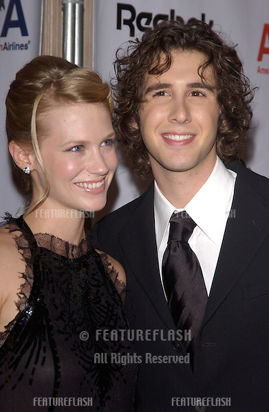 Actor/singer JOSH GROBAN & actress JANUARY JONES at the 16th Carousel of Hope Ball at the Beverly Hills Hilton. The gala is the world's premiere charity event raising money for the fight against childhood diabetes..October 23, 2004