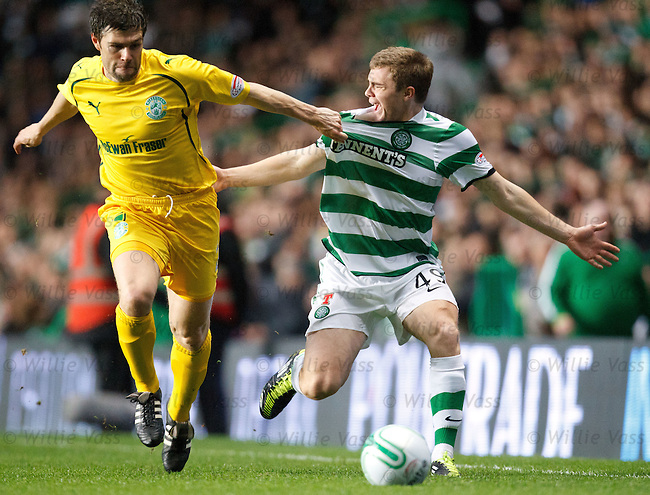 James Forrest grabbed on the wing by Michael Hart
