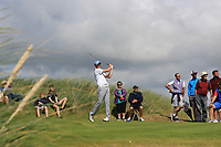 Robert Brazill (Naas) on the 3rd tee during the Final of the AIG Irish Amateur Close Championship 2019 in Ballybunion Golf Club, Ballybunion, Co. Kerry on Wednesday 7th August 2019.<br /> <br /> Picture:  Thos Caffrey / www.golffile.ie<br /> <br /> All photos usage must carry mandatory copyright credit (© Golffile | Thos Caffrey)