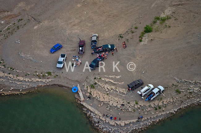 Lake Pueblo, Colorado.  Gathering of people. June 2014. 85118