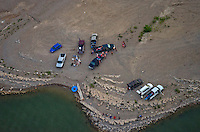 Lake Pueblo, Colorado.  Gathering of people. June 2014. 85118