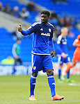 Cardiff?s Bruno Ecuele Manga celebrates scoring his sides opening goal during the Sky Bet Championship League match at The Cardiff City Stadium.  Photo credit should read: David Klein/Sportimage