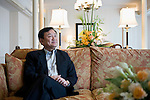 Thaksin Shinawatra, former prime minister of Thailand, poses for a photo in Tokyo, Japan on 23 Aug. 2011. Photographer: Robert Gilhooly