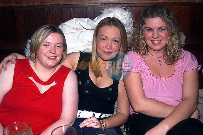 Fiona Dunne, Mary Tirean,and Annmarie Leddy in McHugh's on New Year's Eve...Pic Tony Campbell Newsfile