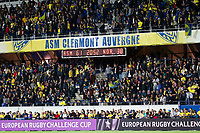 Fans of Clermont during the European Challenge Cup match between Clermont Ferrand and Northampton Saints at Stade Marcel Michelin on March 31, 2019 in Clermont-Ferrand, France. (Photo by Romain Biard/Icon Sport)
