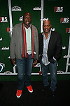 "NFL Hall of Fame Members Bruce Smith and Thurman Thomas Attend Airbnb & Roc Nation Sports ""Roc Nation Sports Celebration"" Held at The 40/40 Club NY"