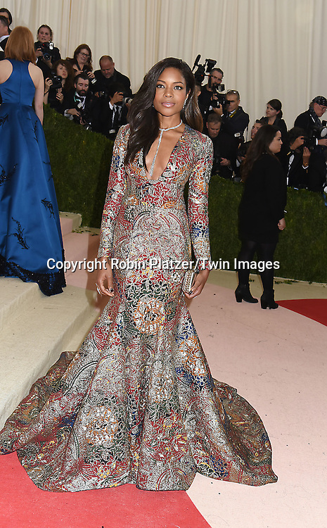 Naomie Harris attends the Metropolitan Museum of Art Costume Institute Benefit Gala on May 2, 2016 in New York, New York, USA. The show is Manus x Machina: Fashion in an Age of Technology. <br /> <br /> photo by Robin Platzer/Twin Images<br />  <br /> phone number 212-935-0770