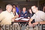 Table quiz contestants in The Ring of Kerry Hotel at the Irish Met Society Field Trip to Cahersiveen on Friday night last were l-r; Tom & Kitty Dwane, Graham Wilson, Claire Kenna & Brian O'Connor.