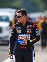 Aug 18, 2017; Brainerd, MN, USA; NHRA top alcohol funny car driver John Lombardo Jr during qualifying for the Lucas Oil Nationals at Brainerd International Raceway. Mandatory Credit: Mark J. Rebilas-USA TODAY Sports